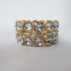 Gold Rhinestone Stretch Bracelet